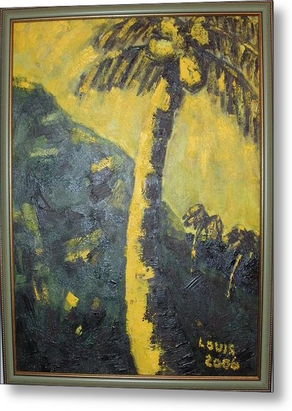 Coconut Tree Metal Print by Louis  Stephenson