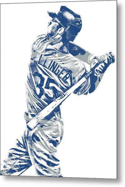 Cody Bellinger Los Angeles Dodgers Pixel Art 10 Metal Print