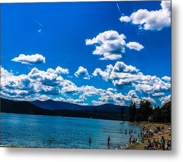 Metal Print featuring the photograph Coeur D Alene City Beach by Pacific Northwest Imagery