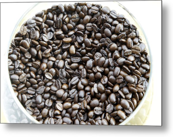 Coffee Beans From Brazil  Metal Print by Steve Outram