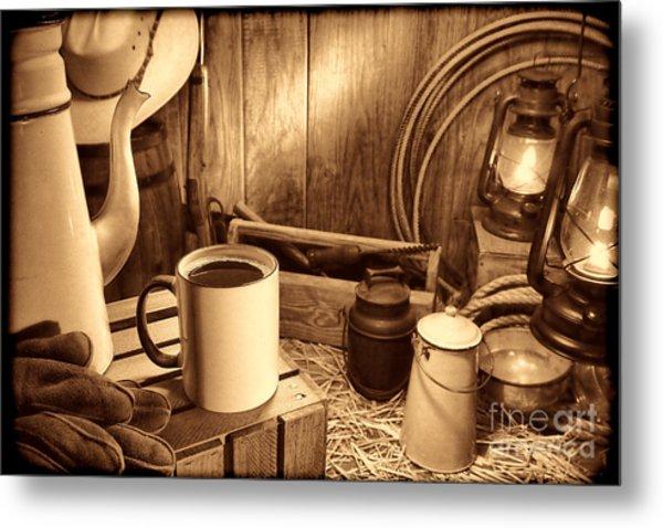 Coffee Break At The Chuck Wagon Metal Print