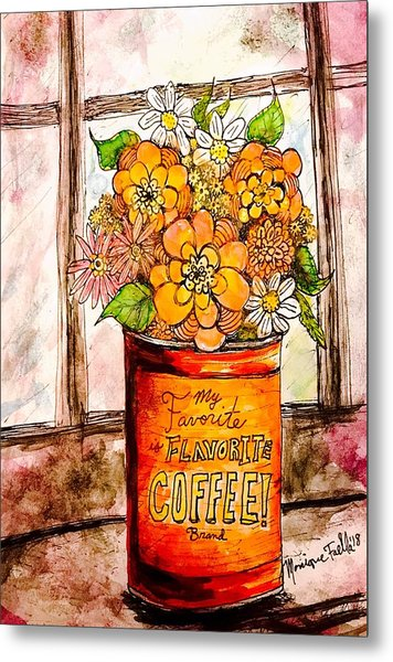 Coffee Can Bouquet  Metal Print