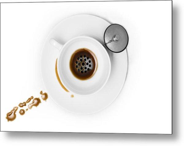 Coffee Drain Metal Print