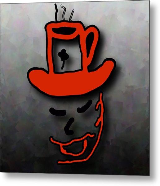 Coffee Hat Man Metal Print