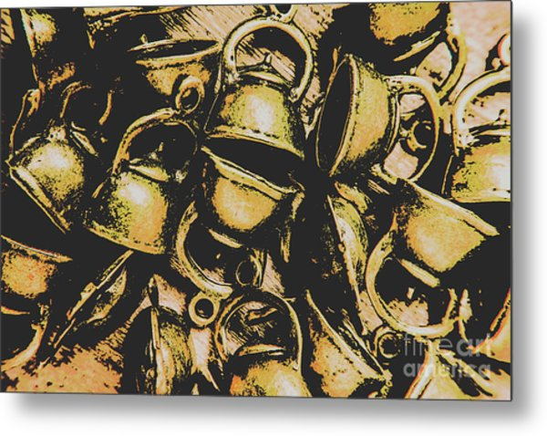 Coffee Shop Abstract Metal Print