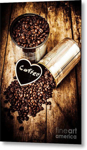 Coffee Shop Love Metal Print