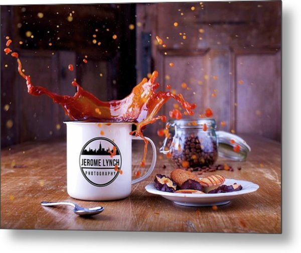 Coffee Splash Metal Print