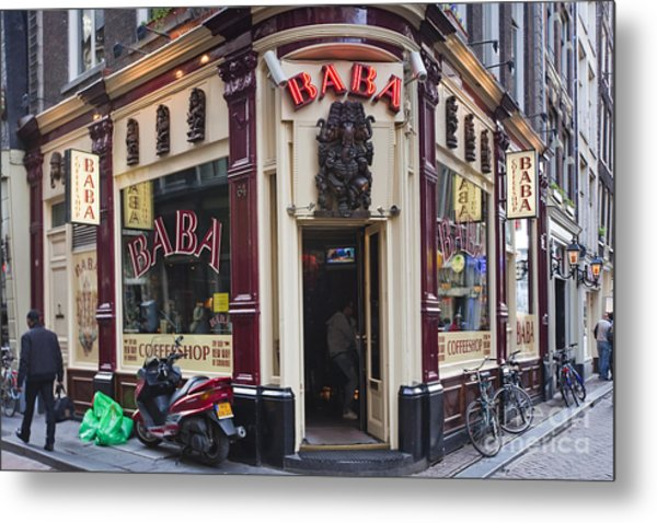 Coffeeshop In Amsterdam Metal Print by Andre Goncalves