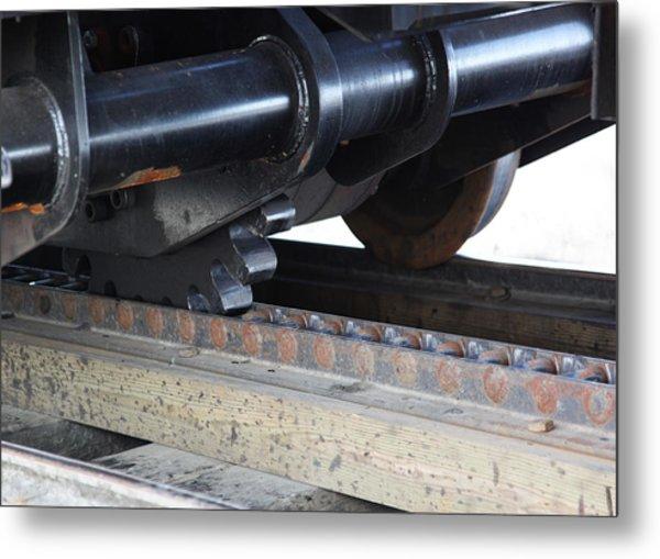 Cog Rail Metal Print by Alan Dean