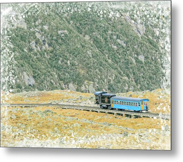 Cog Railroad Train. Metal Print