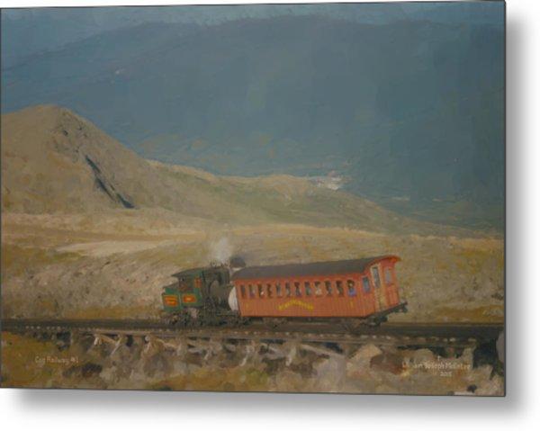 Cog Railway Mount Washington Metal Print