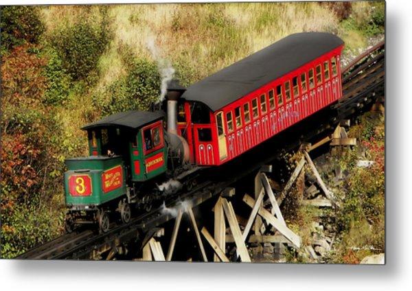 Cog Railway Vintage Metal Print