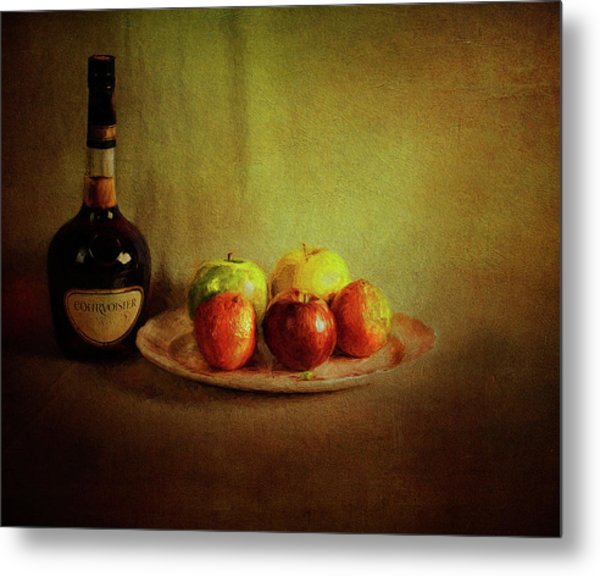 Cognac And Fruits Metal Print