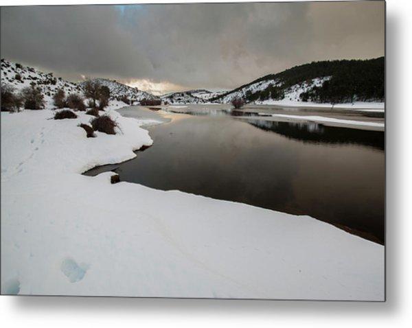 Frozen River Metal Print