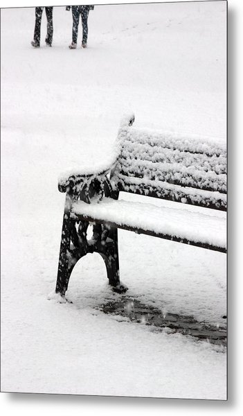 Cold Bench 2 Metal Print by Jez C Self