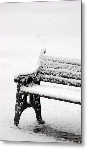 Cold Bench Metal Print by Jez C Self