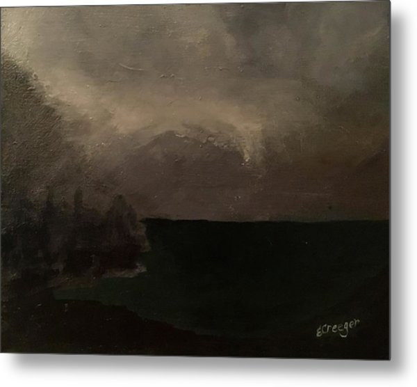 Cold Fog And Sea Metal Print