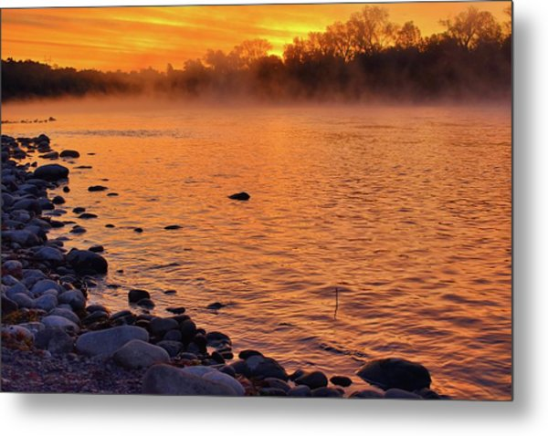 Cold November Morning Metal Print