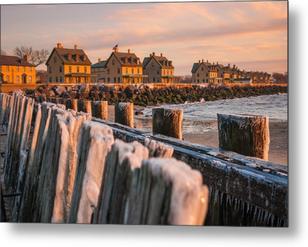 Cold Row Metal Print
