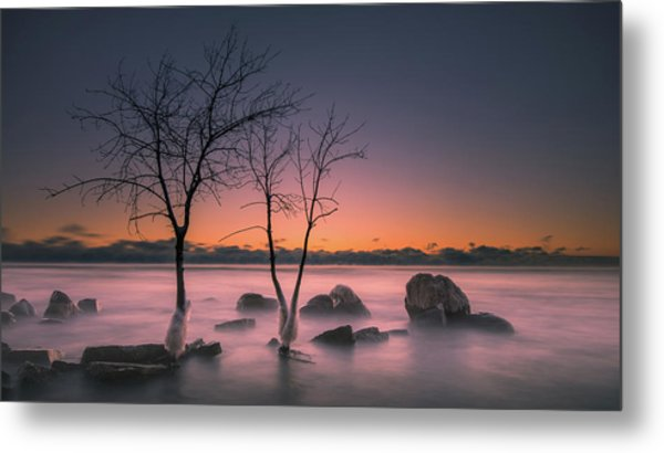 Cold Split Metal Print