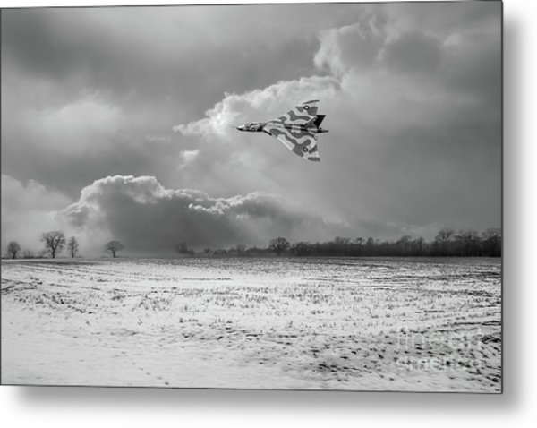 Metal Print featuring the photograph Cold War Warrior Bw Version by Gary Eason
