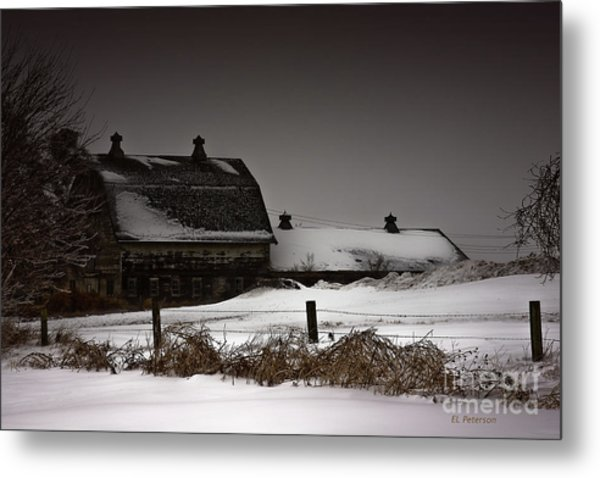 Cold Winter Night Metal Print