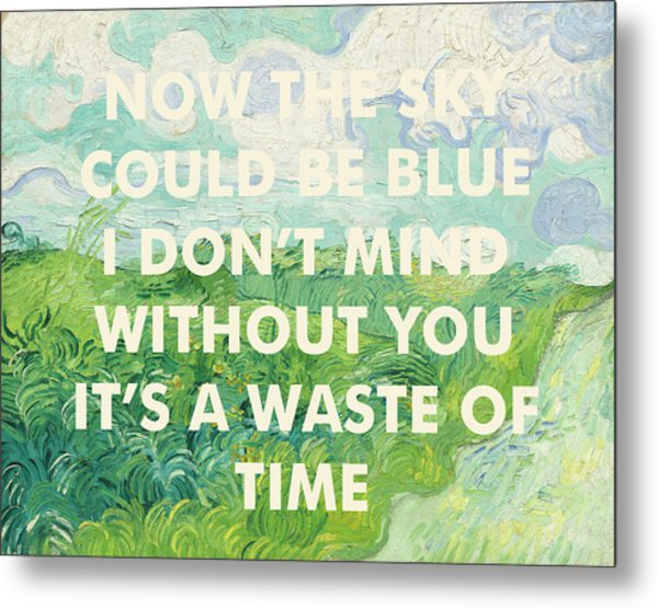 Coldplay Lyrics Art Print Metal Print