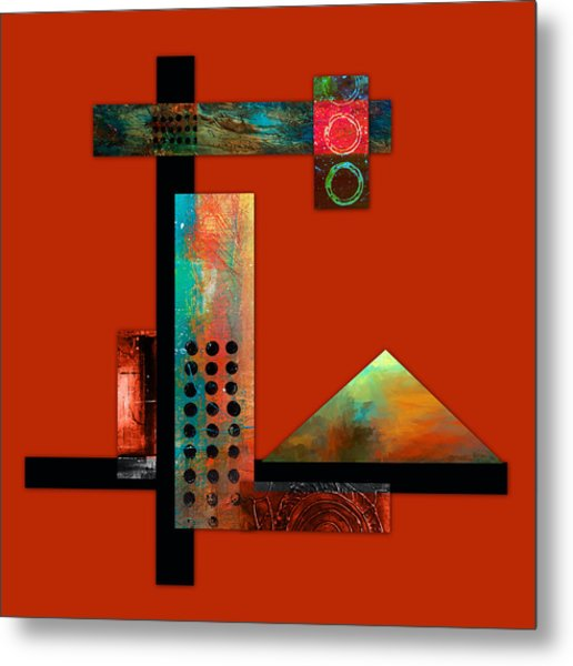 Collage Abstract 1 Metal Print