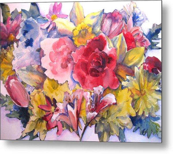Collage Of Flowers Metal Print by Joyce Kanyuk