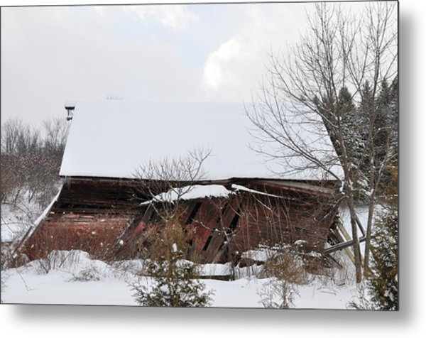 Collapsing Barn Near Saratoga Battlefield Metal Print