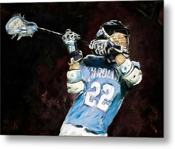 College Lacrosse 12 Metal Print by Scott Melby
