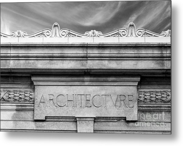 College Of Wooster Frick Hall Architecture Metal Print by University Icons