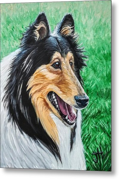Metal Print featuring the painting Collie by Jennifer Hotai