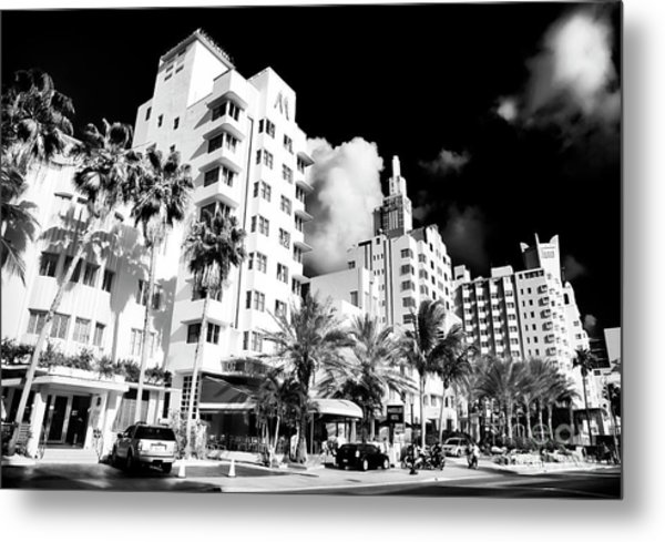 Collins Avenue South Beach Metal Print