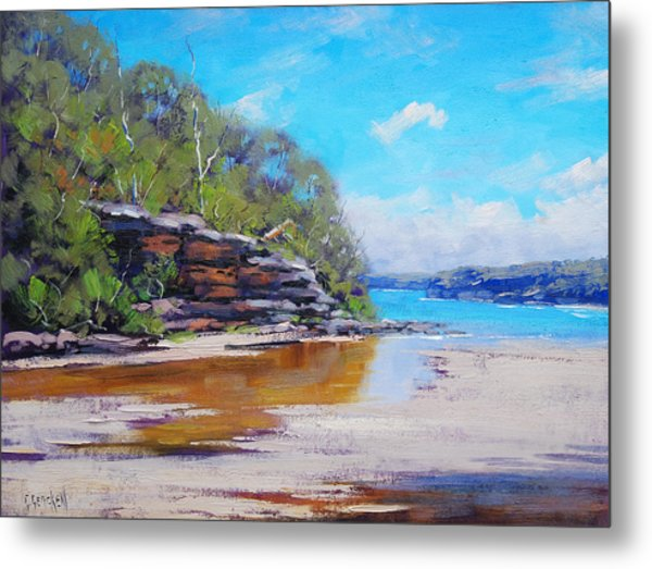 Collins Beach Manly Metal Print