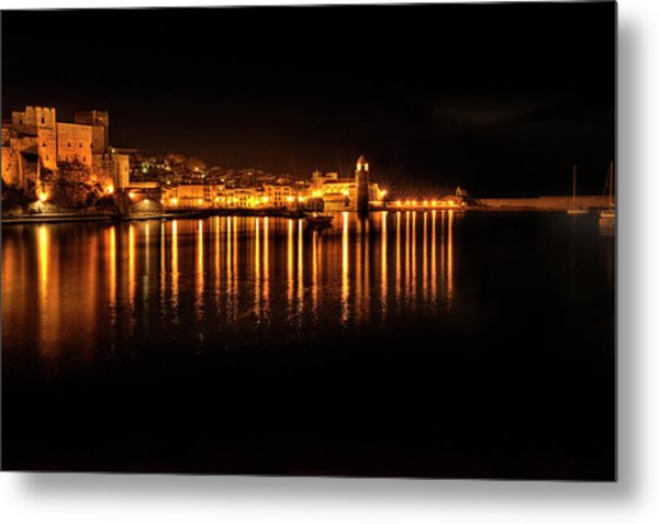 Collioure At Night Metal Print