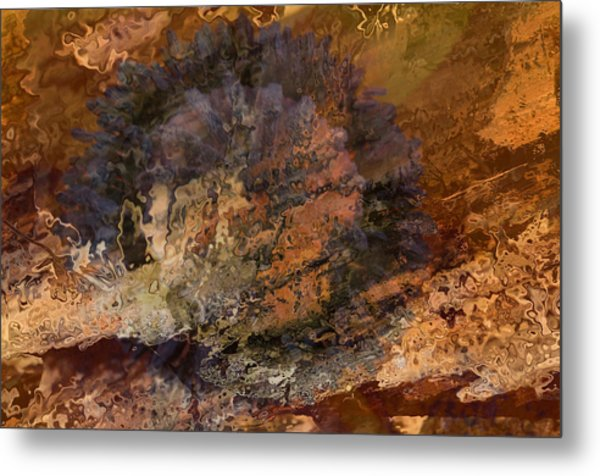 Collision Metal Print