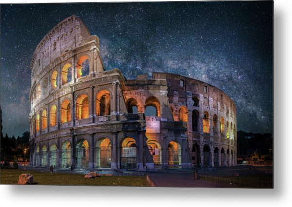 Colloseum Under The Stars Metal Print by Brent Shavnore