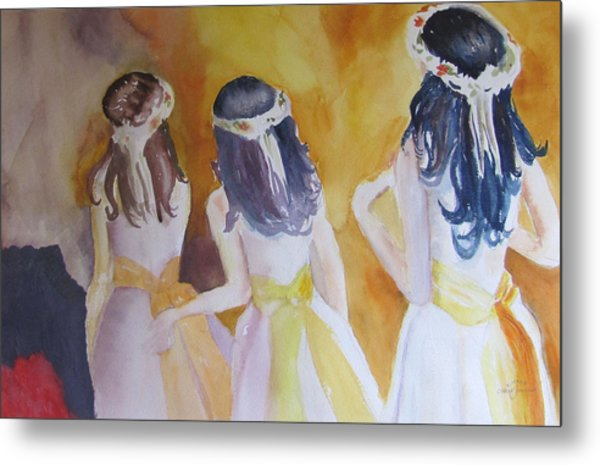 Colombian Wedding Party Two Metal Print