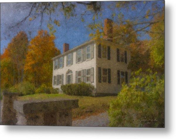 Colonial House On Main Street, Easton Metal Print