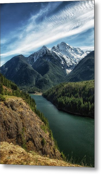 Colonial Peak Towers Over Diablo Lake Metal Print