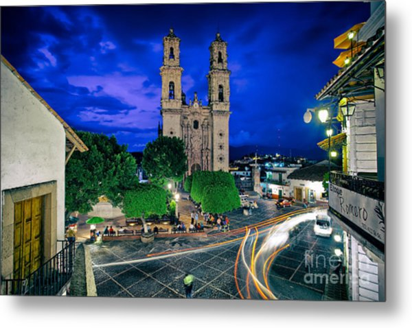 Colonial Town Of Taxco, Mexico Metal Print