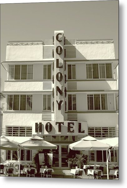 Colony Hotel South Beach Metal Print