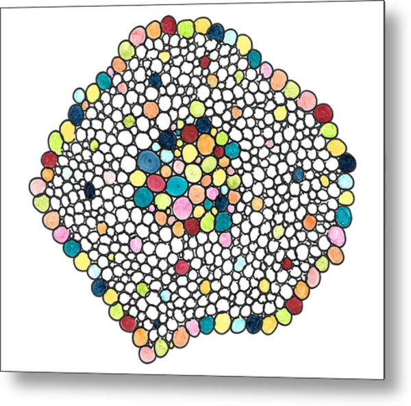 Color Cells Metal Print