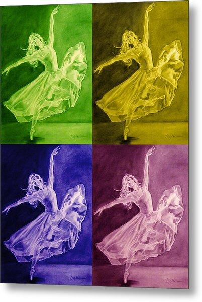 Color Dancer Metal Print