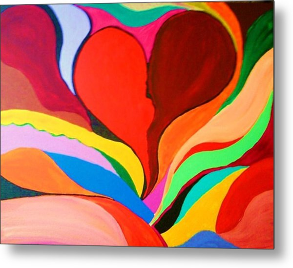 Color Mine With Love Metal Print by Charles  Jennison