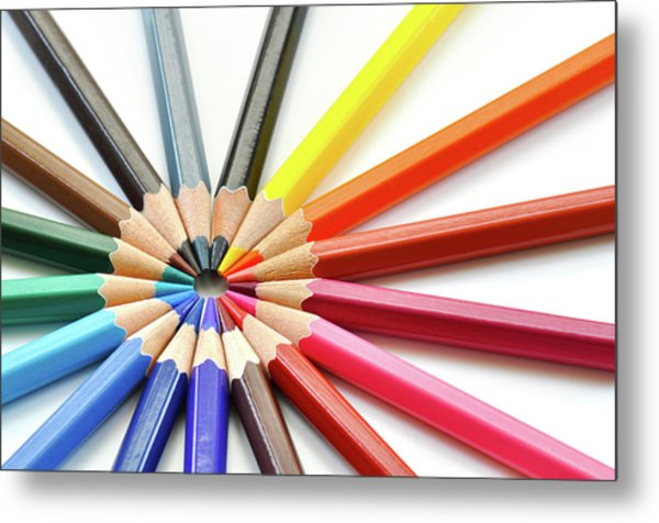 Color Pencils Metal Print