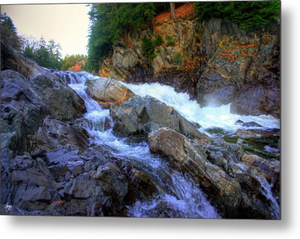 Color Steps At Livermore Falls Metal Print