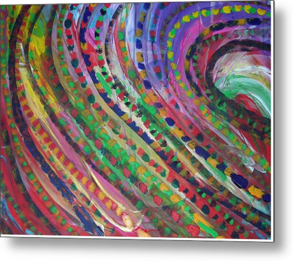 Color Storm Metal Print by Russell Simmons