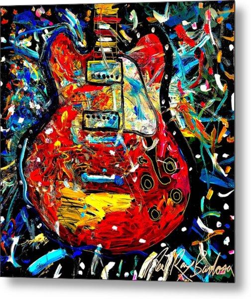 Color Wheel Guitar Metal Print